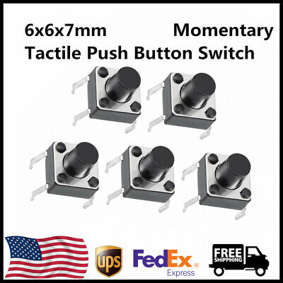6x6x7mm Panel Small Pcb Momentary Tactile Tact Push Button Switch Dip