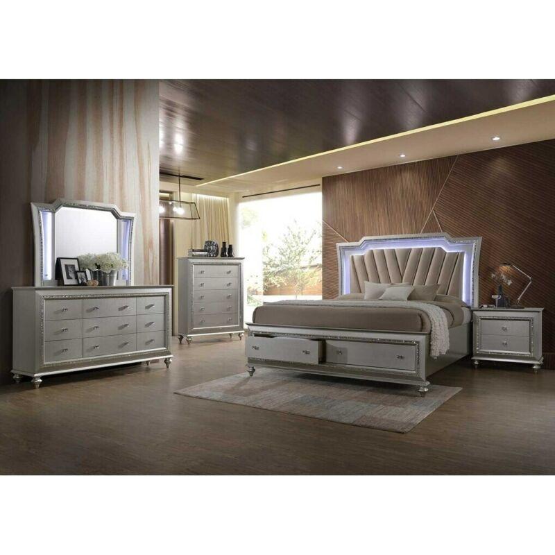 ACME Kaitlyn Dresser in Champagne Gold 9-drawer