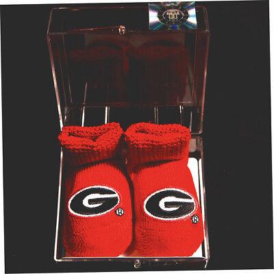 (UGA UNIVERSITY OF GEORGIA Bulldogs Red Baby Booties)