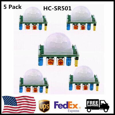 5 Pack Hc-sr501 Pir Motion Ir Sensor Body Module Infrared For Arduino