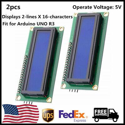 2pcs Iici2ctwi Lcd 1602 16x2 Serial Interface Adapter Module Blue Backlight