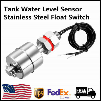 Tank Water Level Sensor Stainless Steel Float Switch Indicator Vertical