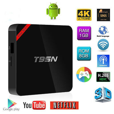 T95N Mini MX+ 4K S905 2.0GHz Quad Core Android 6.0 Smart TV Box WIFI 1G+8G