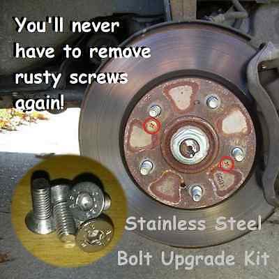 Brake Disc Retaining Screw Bolt Set Stainless Volvo V40 V60 S40 S60