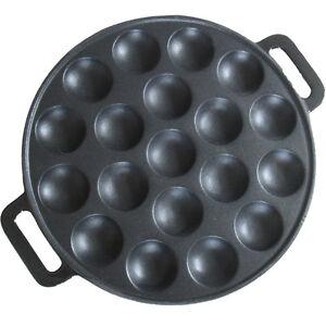 Poffertjes Plate (mini Dutch pancakes 19 dimples)