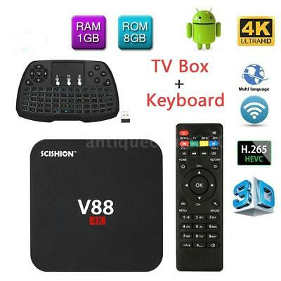 V88 Android 6 0 Smart Tv Box 4K Latest Rk3229 Quad Core 1G 8G Hd Wifi Media D0d5