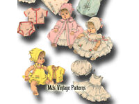 "Betsy Wetsy Dy Dee Vintage 1950s Doll Clothes Pattern ~ 19/"" 20/"" 21/"" Tiny Tears"