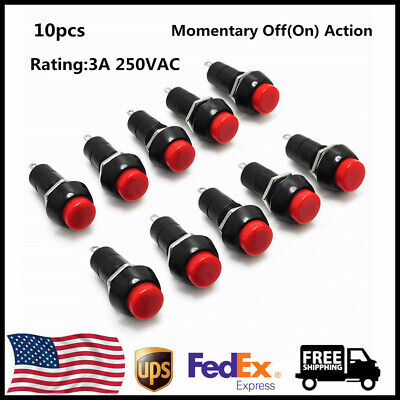 10pcs 12mm 250v 3a Push Button Switch Pbs-11b Momentary Onoff For Arduino