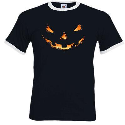Pumpkin Smile Herren Lustige Halloween Kostüm T-Shirt Outfit Gruselig Horror