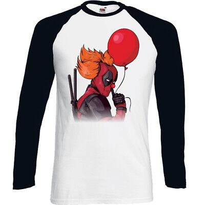 Deadpool Clown Herren Lustiges T-Shirt Kinofilm Superheld Komödie 2 Halloween ()