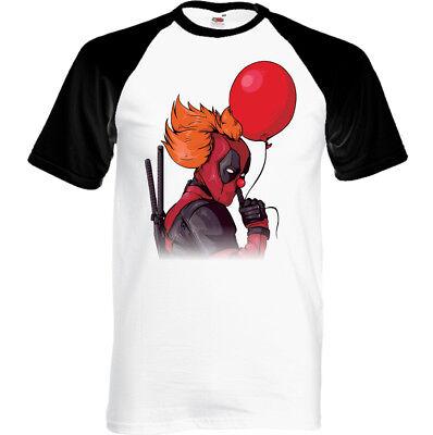Deadpool Clown Herren Lustiges T-Shirt Movie Film Superheld Comedy 2 Halloween ()
