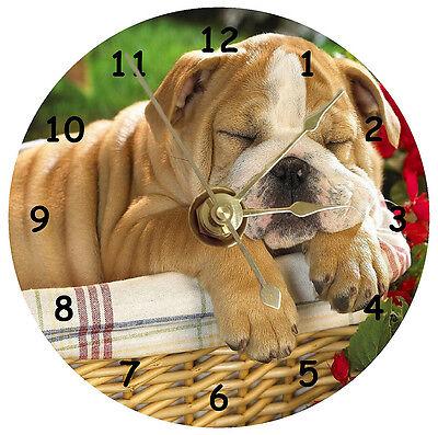 English Bulldog Sleeping Cd Clock