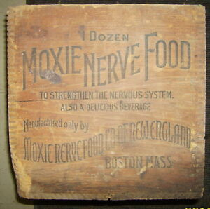 Vintage Moxie Nerve Food Crate Soda Pop New England Boston Kingston Kingston Area image 2