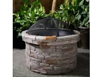 Brand New Round Wood Burning aprx 70x70x60 Fire Pit