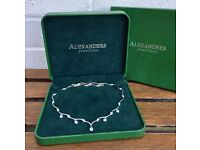 ALEXANDERS JEWELLERS- EXQUISITE LADIES 925 STERLING SILVER NECKLACE CHAIN -BOXED