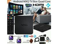 MXQ ANDROID Smart TV Box Fully loaded with Kodi