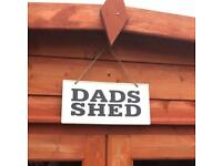 DADS SHED garden metal sign brand new with packaging