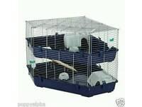 Used, two tier corner rabbit cage