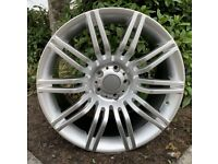 """19"""" x9.5 & 8.5 BMW Spyder style alloy wheels & tyres. Suitable for most BMW E60 models (5x120)"""