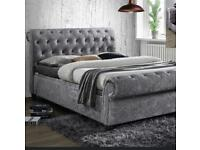 Windsor chesterfield sleigh beds with mattress