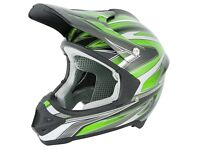 New Stealth HD203 Edge Motocross Helmet Green