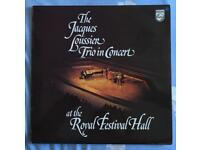 The Jacquers Loussiers Trio in Concert at the Royal Festival Hall LP. 33rpm. PHILIPS 6370 550. 1974.