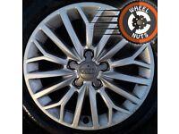 "16"" Genuine Audi A3 alloys perfect cond excel Bridgestone tyres."