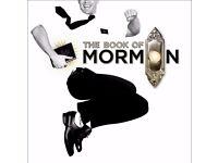 2 x Book of Mormon Tickets TONIGHT (Thursday) - £62.50 (usually £85)