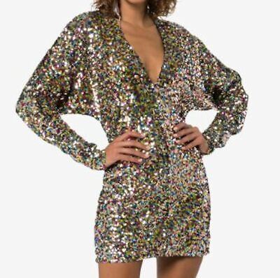 WOW! NEW Tags the Attico brand v neck sequin dress IT 40 US 4 $1110