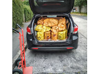 logs - 15 NETS Kiln Dried Hardwood Logs - FREE DELIVERY within Bristol area