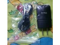 Genuine HTC USA Main charger and cables