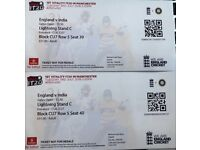 England v India T20 in Manchester Tues 3rd July x 2 tickets. Lightning Stand C £120 for both