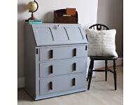 Lovely Vintage Shabby Chic Painted Bureau Desk. We deliver