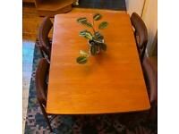 GPlan Fresco gateleg drop leaf mid century teak dining table