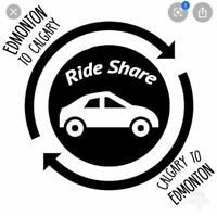 Door-to-Door rideshare. Edmonton to Calgary. Leaving March 2nd