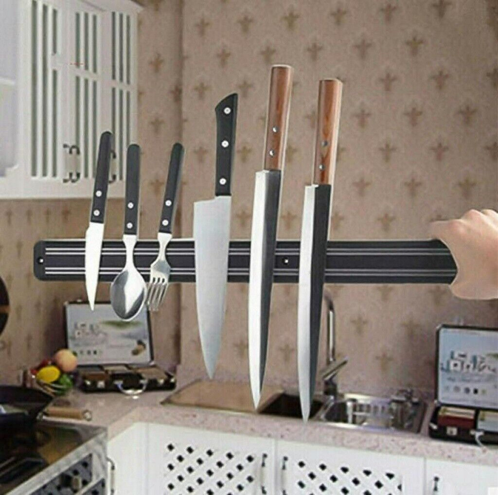 22'' Strong Magnetic Knife Holder Rack Wall Mount Strip Block Kitchen Bracket US