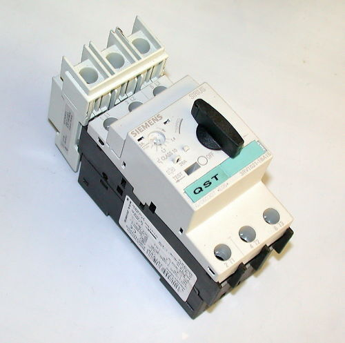 4 SIEMENS MOTOR OVERLOAD RELAYS 2 AMP  MODEL 3RV1021-1B