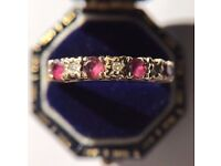 Ruby, Diamond and (9ct) Gold ring.