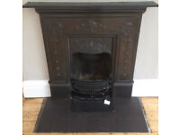 ART NOUVEAU CAST IRON FIREPLACE. FITS IN THE BACK OF SMALL RENAULT CLIO SO COLLECT IT FOR FREE