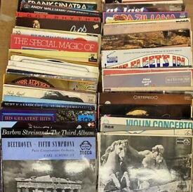 "80x 33rpm 12"" Vinyl Records LP Bundle Beatles, Sinatra, Classical, Jazz, etc"