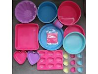 Lot of Silicone Bakeware UNUSED cakes, biscuits, baking, kitchen, cooking