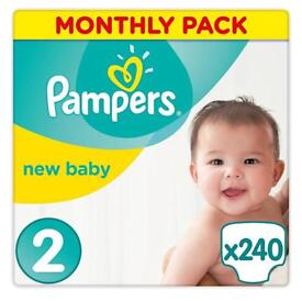 Pampers Size 2 Nappies 268