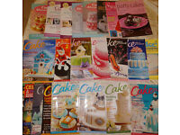 Cake Decorating Bundle! Books,Turntable,Cupcake stands,Letter Stencils,23 Magazines,silicone moulds