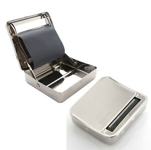 METAL-TOBACCO-CIGARETTE-ROLLING-MACHINE-AUTOMATIC-ROLLER-BOX-TIN-HOLDER-ROLL-UPS