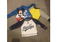 3x baby boys jumpers