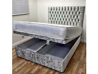 NEW OTTOMAN DOUBLE BED AND MATTRESS