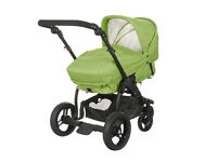 Pram/Pushchair, multi-position.Newborn onwards also has removable extra toddler seat.
