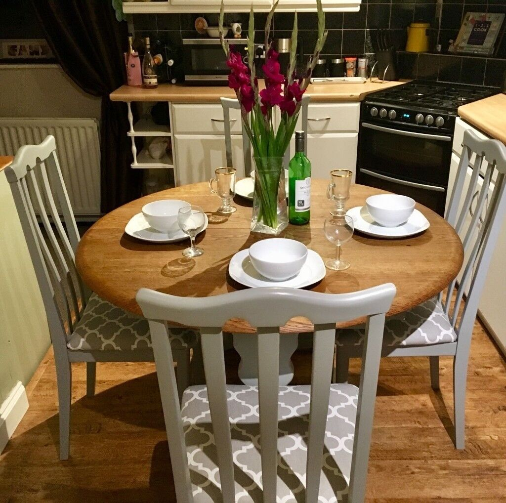 Farmhousecountry Style Dining Table Chairs Refurbished In