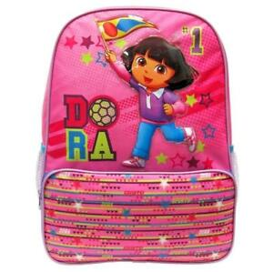 Dora No 1 the Explorer Books Large Full Size 16 inch 3d Backpack Flag
