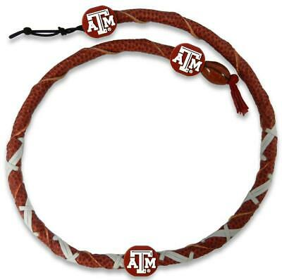 - Texas A&M Aggies Classic Spiral Football Necklace [NEW] NCAA Jewelry Leather